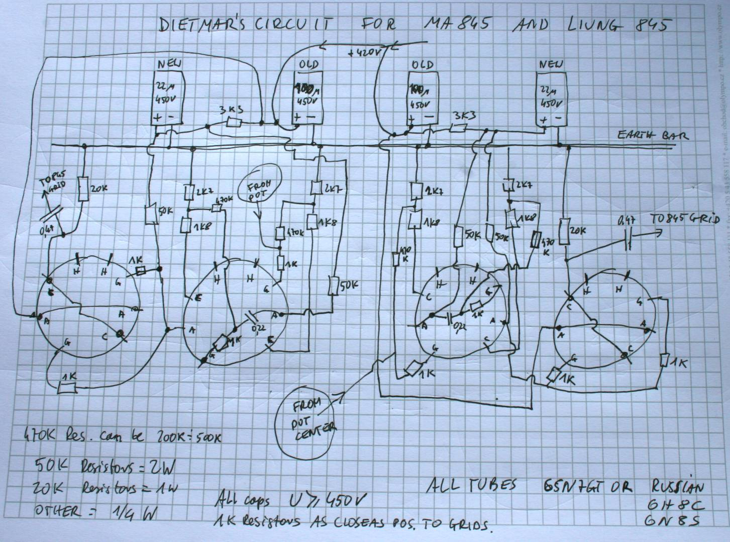 Mrliung Tube Headphone Schematic On Hi Fi Audio Power Amplifier Liung Front End