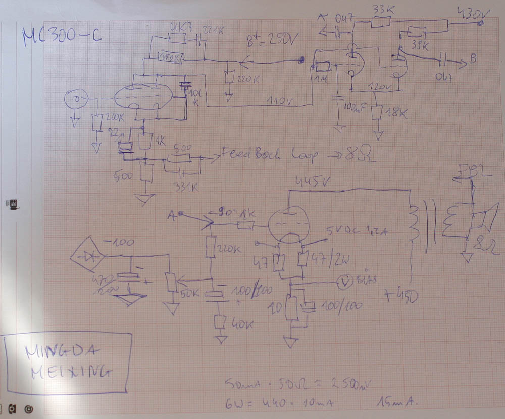 Ming Da In Addition Push Pull Tube Schematic On 6sn7 Amplifier Above Is The Stock Form Schematics As I Found It Next Week Will Post New Scheme Of My Design That Worked Great