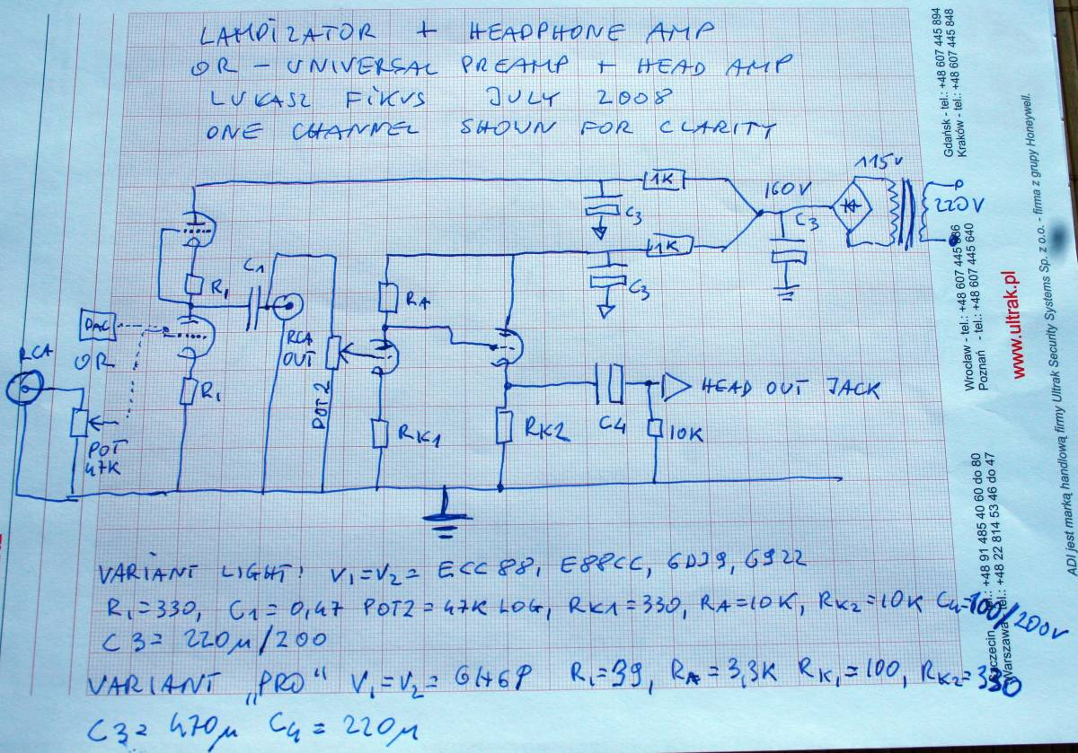Preamplifier With Head Universal Preamp Circuit Diagram
