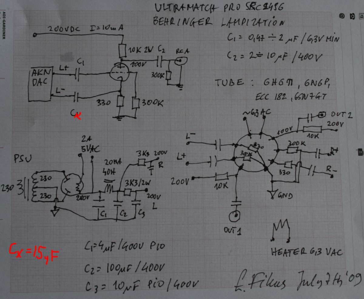 Behringer Crossover Wiring Diagram Schematics Lampizator